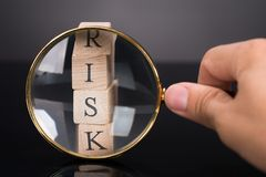 Measuring risks concept Stock Photo