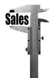 Measuring sales Stock Images