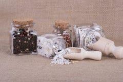 Measuring salt herbal Royalty Free Stock Photography