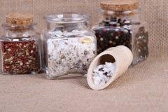 Measuring salt herbal Royalty Free Stock Photos