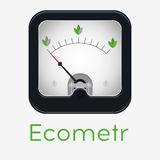 Measuring scale illustration. Measuring scale concept. Eco metr. Flat  stocl illustration Royalty Free Stock Photo
