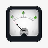 Measuring scale illustration. Measuring scale concept. Ecology. Flat  stocl illustration Stock Image