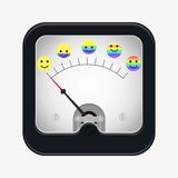 Measuring scale illustration. Measuring scale concept. Fun meter. Flat  stocl illustration Stock Photo