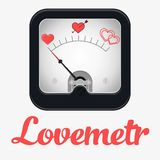 Measuring scale illustration. Measuring scale concept. Love metr. Flat  stocl illustration Royalty Free Stock Image