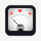 Measuring scale illustration. Measuring scale concept. Love metr. Flat  stocl illustration Stock Photos