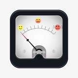 Measuring scale illustration. Measuring scale concept. Mood meter. Flat  stocl illustration Stock Images