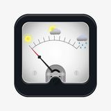 Measuring scale illustration. Measuring scale concept. Weather meter. Flat  stocl illustration Royalty Free Stock Images