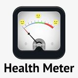 Measuring scale illustration. Health meter. Measuring scale concept. Flat  stock illustration Stock Photo