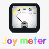 Measuring scale illustration. Joy meter. Rainbow sings. Measuring scale concept. Flat  stock illustration Royalty Free Stock Photo