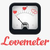 Measuring scale illustration. Lovemeter. Forever alone or married. Measuring scale concept. Flat  stock illustration Stock Image