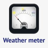Measuring scale illustration. Measuring scale concept. Weather meter. Flat  stocl illustration Stock Image