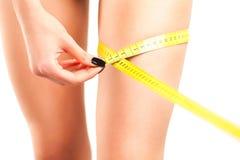 Measuring Sexy Leg Royalty Free Stock Image