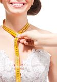Measuring the size of neck Royalty Free Stock Image