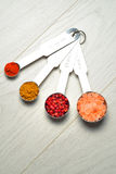 Measuring the spices Royalty Free Stock Image