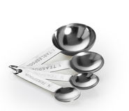 Measuring spoon. On white background stock image