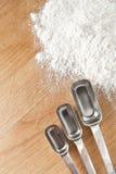 Measuring Spoons with Flour Stock Photos
