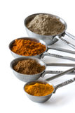 Measuring spoons with spices Royalty Free Stock Photos