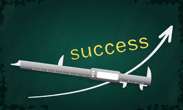 Measuring success Stock Images