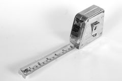 Measuring Tape 1. A black and white picture of a measuring tape royalty free stock photography