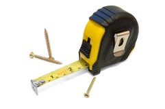 Measuring_Tape_1 Stock Images