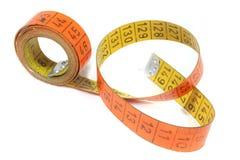 Measuring tape. On white background stock image