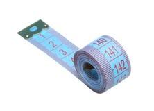 Measuring tape. On white background Royalty Free Stock Photos