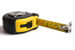 Measuring tape. Measuring tape isolated on white Stock Images