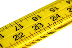Measuring Tape. A ruler used for measuring, isolated over white stock images