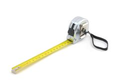 Measuring tape. Measuring tape, isolated on the white background Royalty Free Stock Images