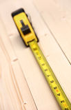 Measuring tape. A diagonal perspective of a measuring tool Royalty Free Stock Images