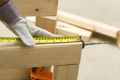 Measuring with tape Royalty Free Stock Images
