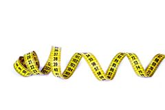 Measuring tape. stock photography
