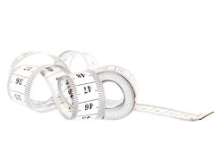 Measuring tape. Measuring tape isolated on white Royalty Free Stock Photo