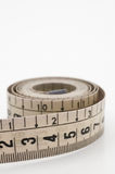 Measuring tape. Taylor measuring tape isolated on white background Royalty Free Stock Photography
