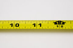 A measuring tape. With isolated two inch segment Stock Photo