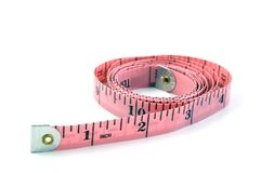 Measuring Tape. In inches Royalty Free Stock Photos