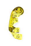 Measuring tape with applications in tailoring in yellow and blac Stock Photography