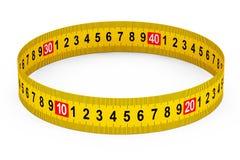 Measuring Tape as Circle Royalty Free Stock Photo