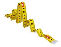 Measuring Tape as Snake Stock Photos