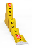 Measuring Tape as Snake Royalty Free Stock Photography