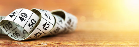 Measuring tape banner Stock Photography