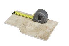 Measuring Tape Caeramic Tile Royalty Free Stock Images