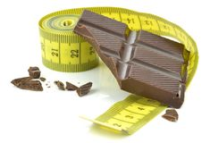 Measuring Tape and Chocolate Stock Photos