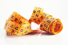Measuring tape close up. Isolated Stock Image