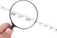 Measuring tape close up Royalty Free Stock Photos