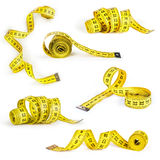 Measuring tape collection of the tailor for you design Royalty Free Stock Photography