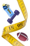 Measuring Tape Diet Fitness Concept Stock Photography