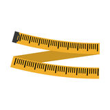 Measuring tape diet icon image Royalty Free Stock Photos