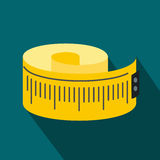 Measuring tape flat icon Stock Photography