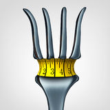 Measuring Tape On Fork Stock Photography